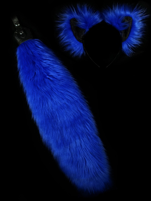 Blue Wolf Fox Butt Plug tail