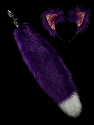 Purple Wolf Fox Butt Plug tail